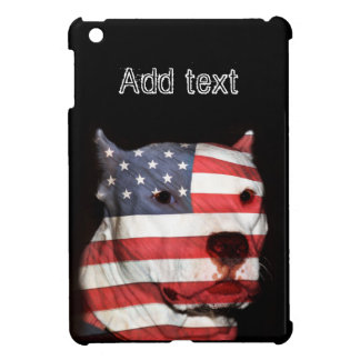 Patriotic pitbull case for the iPad mini