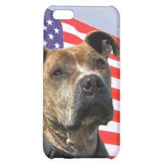 Patriotic pitbull iPhone 5C covers