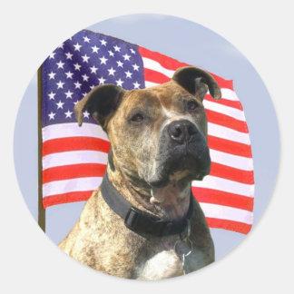 Patriotic pitbull large stickers
