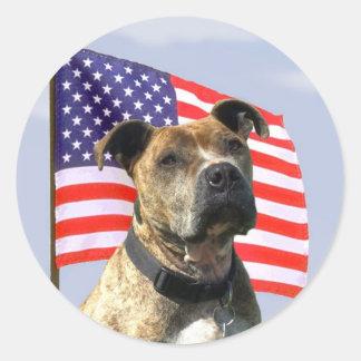 Patriotic pitbull stickers