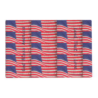 Patriotic Placemat, American Flags Placemat