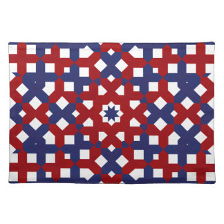 Patriotic Placemat  Red White and Blue