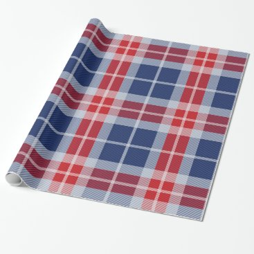Patriotic plaid wrapping paper