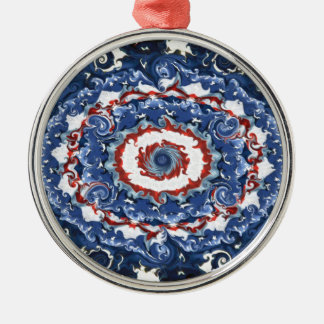 Patriotic Plasticity Metal Ornament