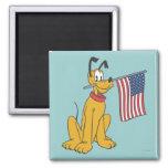 Patriotic Pluto 2 Inch Square Magnet