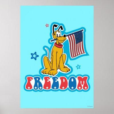 Patriotic Pluto - Freedom Poster