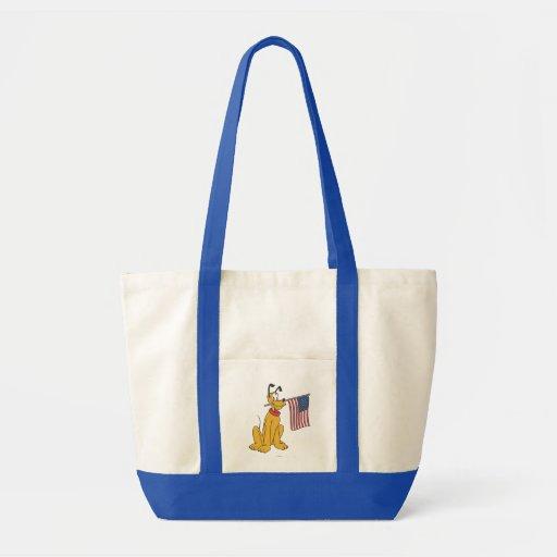 Patriotic Pluto Tote Bag