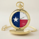 """Patriotic Pocket Watch Flag of Texas, USA<br><div class=""""desc"""">Stylish and elegant pocket watch with flag of Texas State, United States of America. This product its customizable. It contains 3 or more images so you can put them in a new order to create the design you want. Perfect as a Birthday gift, Christmas gift, Thank You gift, and more!...</div>"""