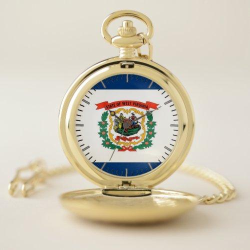 Patriotic Pocket Watch Flag of West Virginia