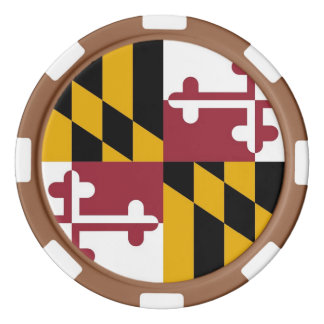 Patriotic poker chips with Flag Of Maryland