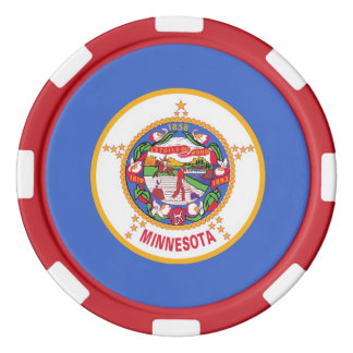 Patriotic poker chips with Flag Of Minnesota