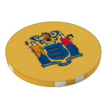 Patriotic poker chips with Flag Of New Jersey