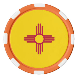 Patriotic poker chips with Flag Of New Mexico