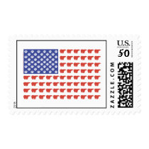 Patriotic Polar Bears USA Postage