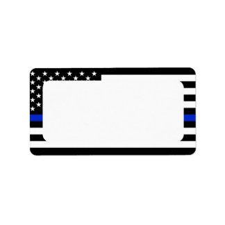 Patriotic Police Flag Blank Address Label