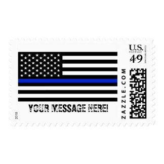 Patriotic Police Flag Custom Text Postage