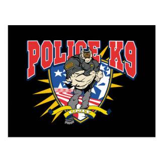 Patriotic Police K9 Unit Postcard