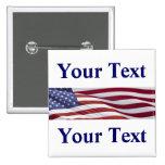 Patriotic Political Campaign 2 Inch Square Button