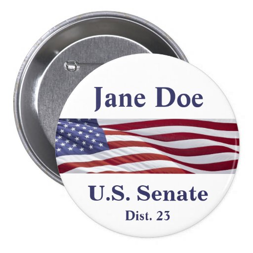 Patriotic Political Campaign Pins