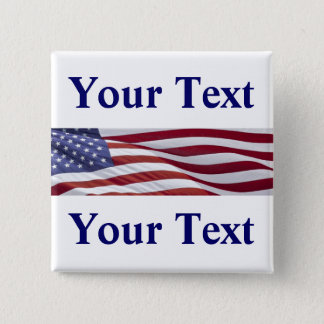 Patriotic Political Campaign Button