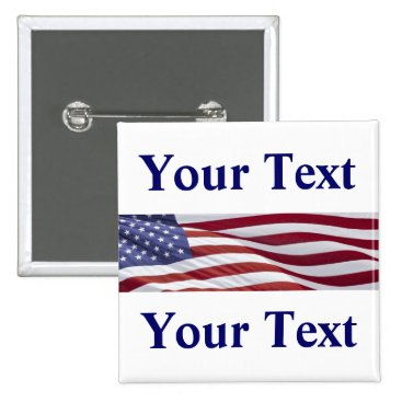 Patriotic Political Campaign Button