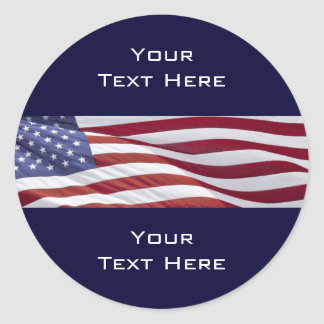 Patriotic Political Campaign Classic Round Sticker