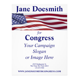 Patriotic Political Campaign Flyer