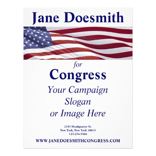 patriotic political campaign flyer zazzle com