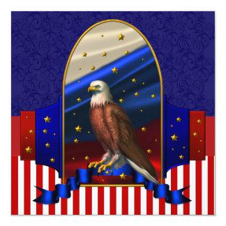"""Patriotic Political Campaign Party 5.25"""" Square Invitation Card"""
