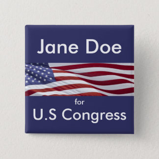 Patriotic Political Campaign Pinback Button