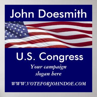 Patriotic Political Campaign Poster