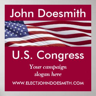 Patriotic Political Campaign Print