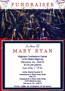 patriotic political fundraiser invitation