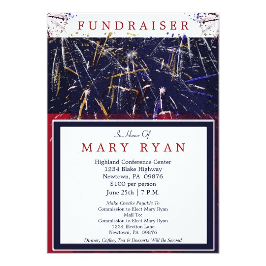 Political Fundraiser Invite  BesikEightyCo