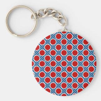 Patriotic Polka Dots Key Chain