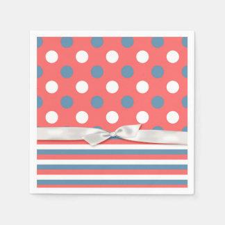 Patriotic Polka Dots Paper Napkin