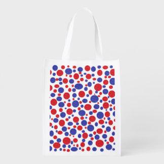 Patriotic Polka Dots Reusable Grocery Bag