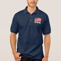 Patriotic polo shirt with American flag | USA
