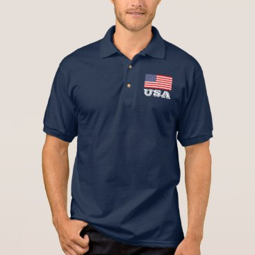 USA Themed Patriotic polo shirt with American flag | USA