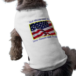 Patriotic Pooch American Flag Dog T-Shirt