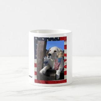 Patriotic Pooch Classic White Coffee Mug