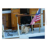 """PATRIOTIC POOCHES"" #3 GREETING CARD"