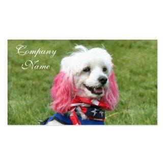 Patriotic Poodle business cards