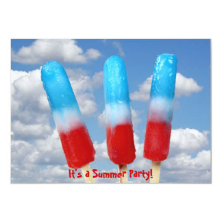 Patriotic popsicle party card
