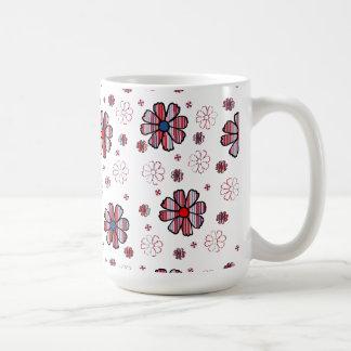 Patriotic Posies Classic White Coffee Mug