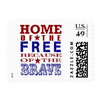 patriotic postage stamp