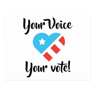 Patriotic Postcard for Voters
