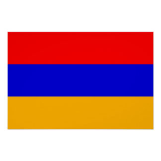 Patriotic poster with Flag of Armenia