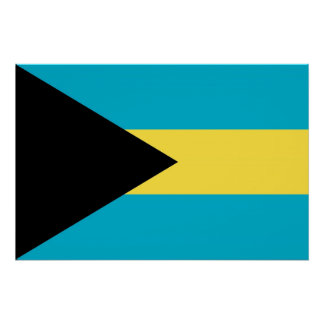 Patriotic poster with Flag of Bahamas