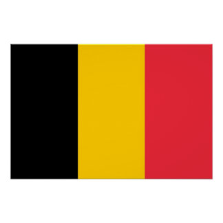Patriotic poster with Flag of Belgium
